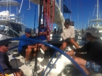 Brisbane to Keppel Race 2013 Sydney 41 Southern Cross Yachting 'Oceans' pre-start briefing.