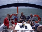Lunch at anchor Southern Cross Yachting charter